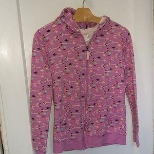 Cat & Jack zip up hoodie with cute arrow print